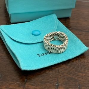 Authentic Tiffany & Co. mesh ring